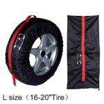 LBgrandspec 1Pc Car Spare Tire Cover Auto Vehicle SUV Tyre Protector Storage Bag Wheel Case Car Tire Cover Tire Bag Tire Cover L