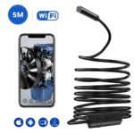 Wireless Endoscope,WiFi Inspection Camera, 2.0 Megapixels HD Snake Camera, Instecho Micro USB Borescope Waterproof Endoscope Laptops USB OTG Compatible Android Smartphones (16.4ft)