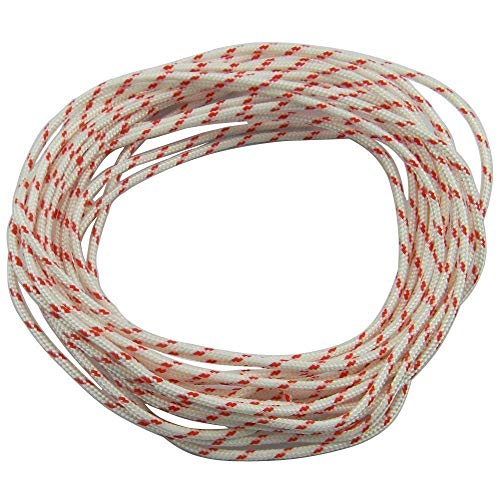 Leeyu Recoil Starter Rope 10-Meter (Diameter 4.0mm) Pull Cord for Husqvarna STIHL Sears Craftsman Poulan Briggs Stratton Poulan Chainsaw/String Trimmer/Brush Cutter/Lawn Mower (Diameter:4mm)