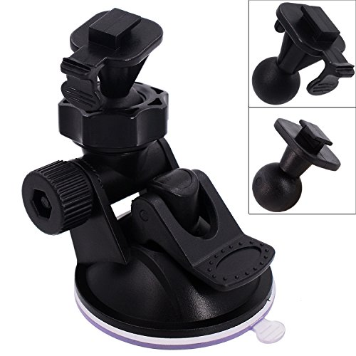 iSaddle CH02A YI Dash Camera Mount Holder Vehicle Video Recorder/Car DVR Camera Windshield & DashBoard Suction Mount Holder