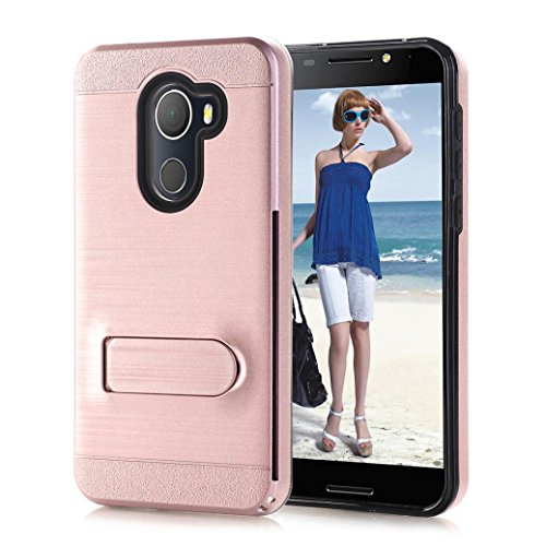 AutumnFall For Alcatel Revvl(T-Mobile)/Alcatel A30 Fierce 2017/Alcatel A30 PLUS/Alcatel Walters/5049 Case,1PC Card Pocket Holder Holster Case Stand Protect Cover (Rose Gold)