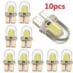 Quaant Car LED Light,180LM 6500K Practical COB Lamps 10x T10 194 168 W5W COB 8 SMD LED CANBUS Silica Bright White License Light Bulb (Yellow)