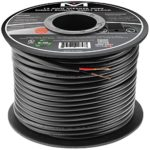 Mediabridge 12AWG 2-Conductor Direct Burial Speaker Wire (200 Feet, Red/Black) – 99.9% Oxygen Free Copper (SWDB-12X2-200)