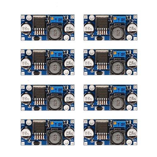 [8-PACK] LM2596 DC-DC Adjustable Buck Converter 3-40 V to 1.5-35v Step Down Power Supply High Efficiency Voltage Regulator Module …