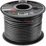Mediabridge 12AWG 2-Conductor Direct Burial Speaker Wire (500 Feet, Red/Black) – 99.9% Oxygen Free Copper (SWDB-12X2-500)
