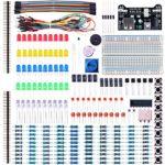 Elegoo EL-CK-002 Electronic Fun Kit Bundle with Breadboard Cable Resistor, Capacitor, LED, Potentiometer (235 Items)