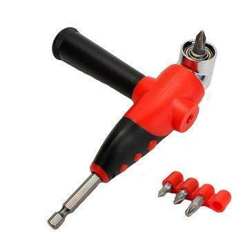 Bent Screwdriver Set – Angled Screwdriver Set – 105 1/4 Inch Angle Driver Screwdriver Bit Holder with Screwdriver Bits (Angle Screwdriver Set)