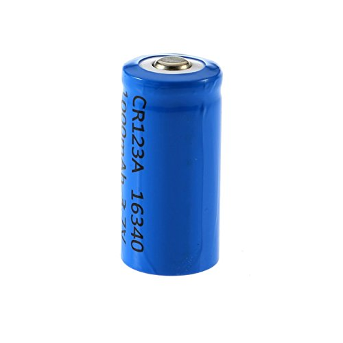 3.7V 1000mAh CR123A 16340 Li-ion Rechargeable Flashlight Battery Blue Shell Torch Batteries Replacement Tool