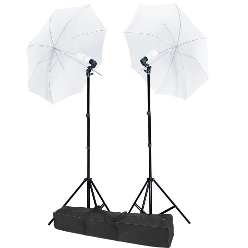 AW Photo Studio Translucent White Umbrella 2X Photography Lights Lighting Kit 33″