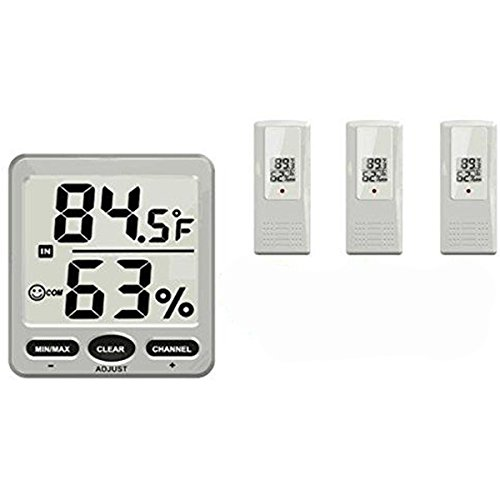 TS-WS-07-X2 8 Channel Wireless Weather Station Indoor Outdoor Thermometer Hygrometer Console