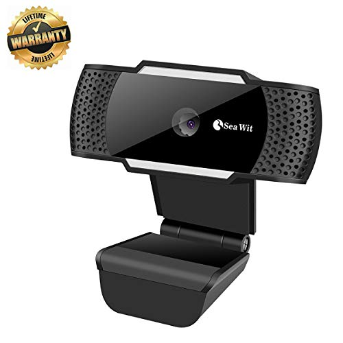 Sea Wit Webcam,USB 2.0 Web Camera with Built-in Microphone for Video Calling,Support Skype,Facebook etc – Black