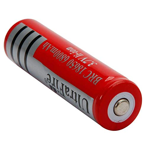 Famtasme Recharge Ultra AA Type Battery 3.7V 6800mAh Large Capacity 18650 Rechargeable Lithium Batteries Red, Pack of 10