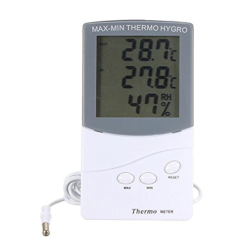 LCD Digital Thermometer Humidity Meter Hygrometer Indoor Outdoor – Car Electronics – Thermometers
