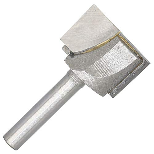 Carbide Tipped Cleaning Bottom Router Bit Cutter Double Flute 1-Inch Cutting Dia 1/4-Inch Shank
