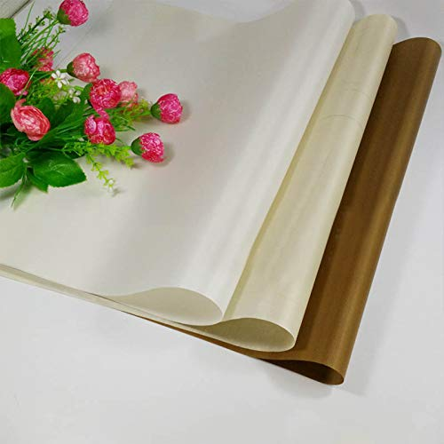 Fiesta Practical Special High Temperature Resistant Teflon Sheet Tarpaulin Cake Mat Baking Oven Tool Fiberglass Cloth 1pc: coffee