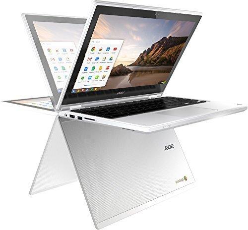 Acer R11 11.6″ Convertible 2-in-1 HD Premium IPS Touchscreen Chromebook (2018 New), Intel Celeron N3060 1.6GHz, 4GB RAM, 16GB eMMC flash, Bluetooth, HD Webcam, HDMI, USB 3.0, Chrome OS – White