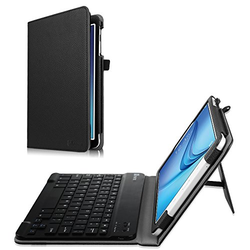 Fintie Keyboard Case for Samsung Galaxy Tab E 9.6 – Slim Fit PU Leather Stand Cover with Premium Quality [All-ABS Hard Material] Removable Wireless [Long Life Battery] Bluetooth Keyboard, Black