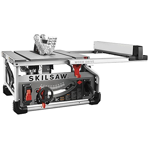 SKILSAW SPT70WT-01 10″ Portable Worm Drive Table Saw with 25″ Rip Capacity