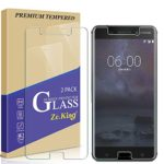 [2-Pack]Nokia 6 Tempered Glass Screen Protector, ZeKing 0.33mm 2.5D Edge 9H Hardness [Anti Scratch][Anti-Fingerprint] Bubble Free for Nokia 6, Lifetime Replacement Warranty
