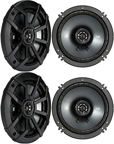 (4) KICKER 43CSC654 CSC65 6.5″ 6-1/2″ 1200w 4-Ohm Car Audio Coaxial Speakers