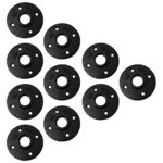 3/4″ Pipe Flange (10 Piece Set) Black Metal Mounting for DIY Floating Wall Shelves, Vintage Industrial Cast Iron Decor, Threaded Bookshelf Fittings, Shelving, Plumbing Furniture Floor Mount Shelf Unit