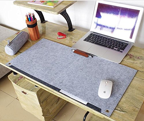 Richoose Felt Desk Mat Multifunctional Felt Computer Desk Pad Oversized Mouse Pad for Computer Laptop Keyboard