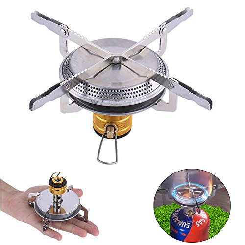 Portable Folding Mini Camping Stove Outdoor Pocket Gas Survival Furnace Picnic Cooking Tools