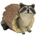 Design Toscano Bandit the Raccoon Garden Animal Statue, 10 Inch, Polyresin, Full Color