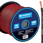 InstallGear 14 Gauge AWG 100ft Speaker Wire Cable – Red/Black