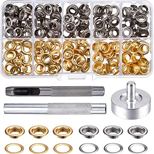 Pangda Grommet Kit with 100 Set Grommets (1/4 Inch)