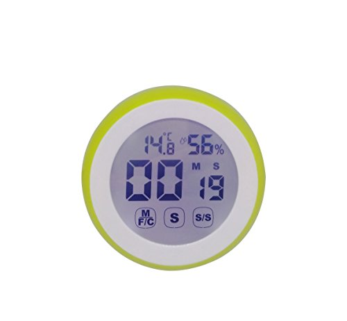 Digital Kitchen Count Down Up Timer with Temperature Humidity Monitor,Indoor Thermometer Hygrometer for Baby Room
