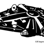 UR Impressions Blk LF Millennium Falcon Decal Vinyl Sticker Graphics for Car Truck SUV Van Wall Window Laptop|Black|6.25 X 3.6 Inch|URI546
