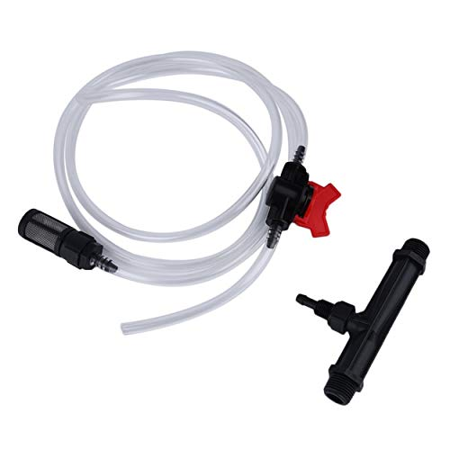 3/4″ Irrigation Venturi Fertilizer Injectors Device+Irrigation Water Tube with Flow Control Switch & Filter Kit