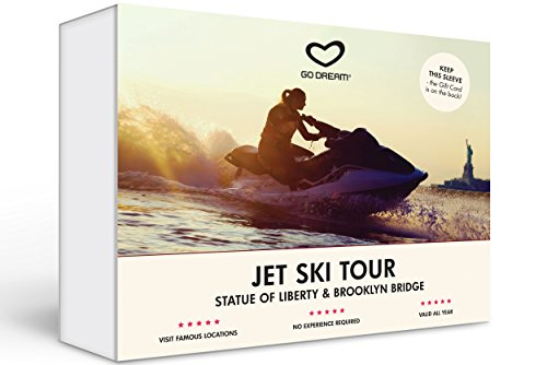 Jet Ski Rental - Tour of the Statue of Liberty & Brooklyn Bridge - Experience Gift Card NYC - GO DREAM - Sent in a Gift Package