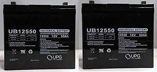 Universal UB12550GRP22NF- UB12550 (Group 22NF) 12V 55AH SLA Battery Z1 TT - 2 Pack
