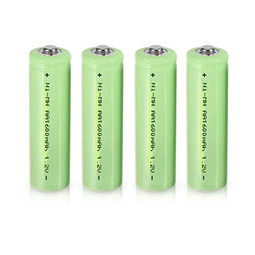4pcs 1.2V 1600mAh AA Ni-MH Rechargeable Batteries Button Top for LED Torch Flashlight Headlamp Electric Tools Toys