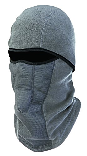 Ergodyne N-Ferno 6823 Winter Ski Mask Balaclava, Wind-Resistant Face Mask, Thermal Fleece, Gray