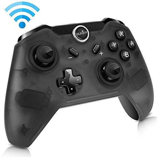 Sunjoyco Wireless Remote Controller for Nintendo Switch, Wireless Pro Controller Gaming Gamepad Joypad for Nintendo Switch Console, Gyro Axis Dual Shock (Black)