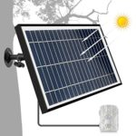 ARTITAN Solar Panel 12V 5W Charger for Trail Game Camera IP54 Waterproof 6V Output with Aluminium Frame Wildlife Hunting Cam Accessories