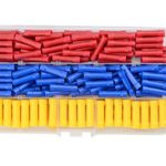 WGCD 200 PCS Insulated Straight Wire Butt Splice Terminals Electrical Crimp Connector Assortment Kit