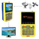 GTMEDIA V8 Satellite Finder DVB S2 TV Satellite Signal Meter Detector for Adjusting Sat Dish, HD 1080P Free to Air FTA 3.5″ LCD Built-in 3000mAh Battery