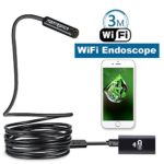 Fantronics 3 Meter (9.84ft) Rigid Cable WIFI Inspection Camera Wireless Borescope Endoscope 2.0 Megapixels HD Snake Camera for Android and IOS Smartphone, iPhone, Samsung, Tablet, Macbook