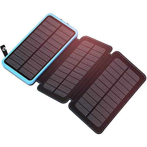 ADDTOP Solar Charger 24000mAh Waterproof Power Bank with Dual USB Output High Capacity Portable Battery Pack for Smart Phones, Tablets and More