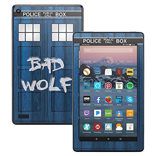 MightySkins Skin for Amazon Kindle Fire 7 (2017) – Time Lord Box | Protective, Durable, and Unique Vinyl Decal wrap Cover | Easy to Apply, Remove, and Change Styles | Made in The USA