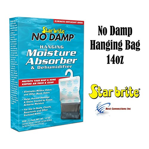 Star Brite No Damp Hanging Moisture Absorber & Dehumidifier 14oz 85470 RV Boat