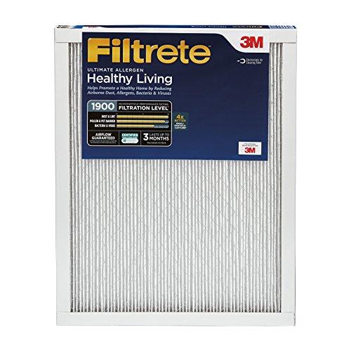 Filtrete MPR 1900 16 x 25 x 1 Healthy Living Ultimate Allergen Reduction HVAC Air Filter, 2-Pack