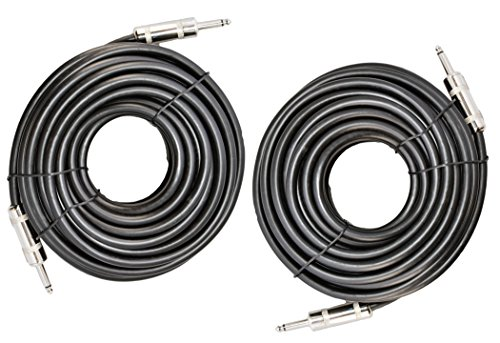 Ignite Pro 2X 1/4″ to 1/4″ 50 Ft. True 12 Gauge Wire AWG DJ/Pro Audio Speaker Cable, Pair