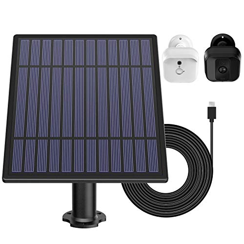 DG-Direct Solar Panel Blink XT Security Camera, Wall Mount Outdoor Weatherproof Solar Power Charging Panel Blink XT Home Security Camera System