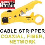 USG CCTV Cable Stripper Coaxial RG59, RG6, RG7, RG11 Network Cat5e, Cat6, UTP, STP Round & Flat Cable Comfortable Grip High Grade Steel + Plastic Construction Premium Pro Grade