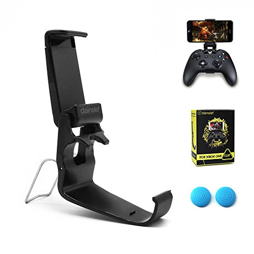 Dainslef Xbox One Controller Foldable Mobile Phone Holder Smartphone Clamp Game Clip for Microsoft Xbox One S Game Controller Steelseries Nimbus for iPhone Samsung Sony HTC LG Huawei